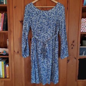 Old Navy maternity waist-defined long sleeve dress